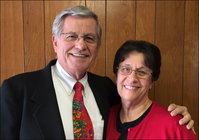 Pastor Bill Lindeman with his wife, Cheryl